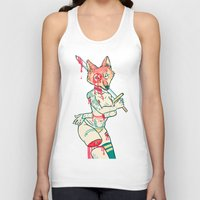 kendrawcandraw Tank Tops featuring Coyote Teeth by kendrawcandraw