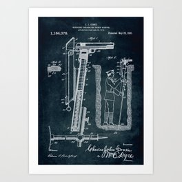 1916 - Repeating firearm for trench warfare Art Print