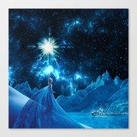 frozen elsa Canvas Prints featuring Frozen - Elsa by Thorin