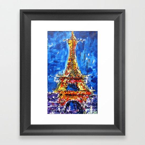 J'adore Eiffel Framed Art Print