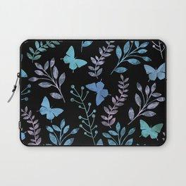 Watercolor flowers & butterflies II Laptop Sleeve
