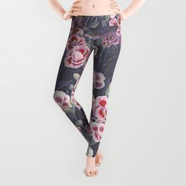 Carnations Pattern Leggings