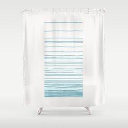 Linear Gradation - Pool Shower Curtain