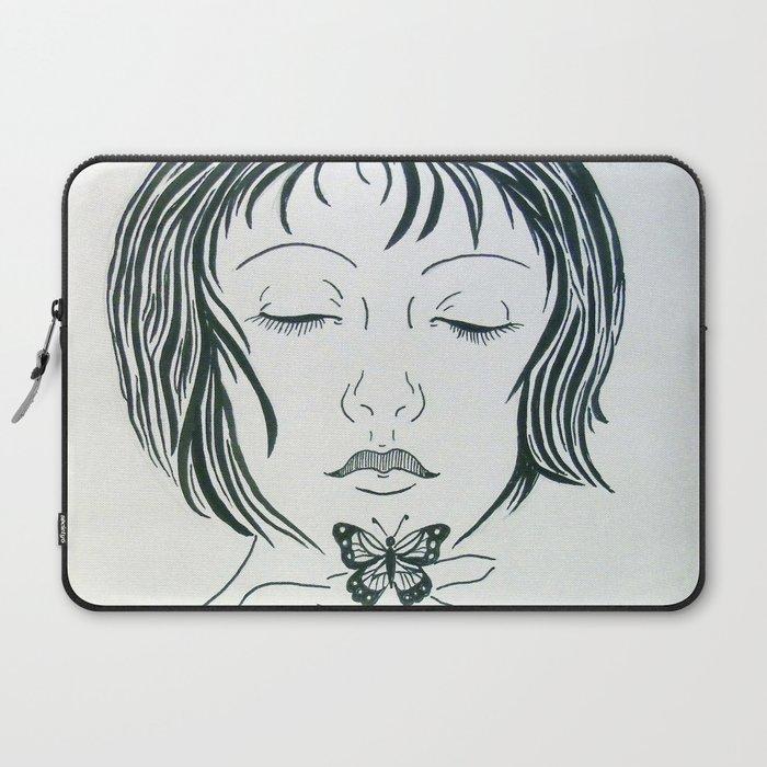 Butterfly kiss Laptop Sleeve