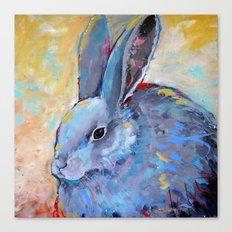 Be Still - Rabbit Bunny Fine Art Canvas Print