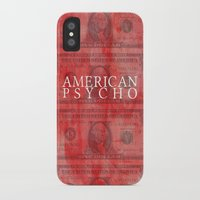 american psycho iPhone & iPod Cases featuring American Psycho by Robert Payton