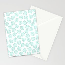 cute ac white leaf pattern fanart tropical  Stationery Cards