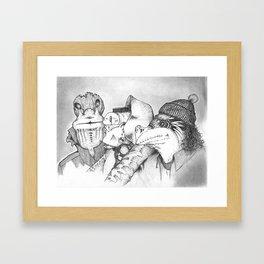 Three Gentlemen Framed Art Print