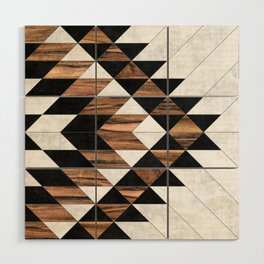 Urban Tribal Pattern No.9 - Aztec - Concrete and Wood Wood Wall Art
