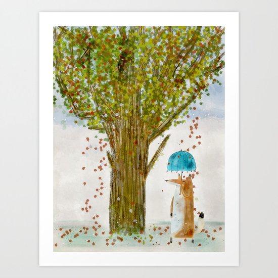 an autumns day Art Print