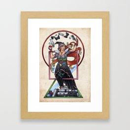 QT Witch by Bobbie Berendson W Framed Art Print