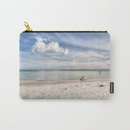 Dream beach Sea Ocean Summer Maritime Navy clouds Carry-All Pouch