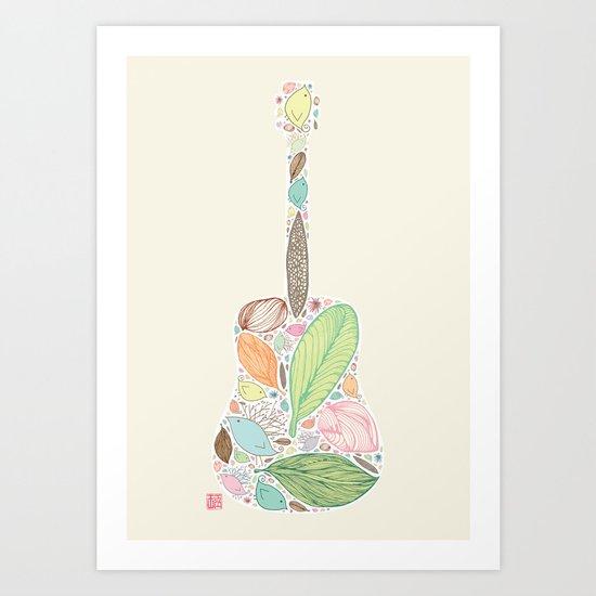 Let your Guitar Sing Art Print