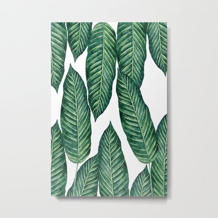 Green Banana Leaves #society6 Metal Print