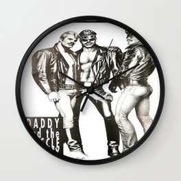 Tom of Finland - Daddy and the Muscle Academy Wall Clock