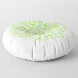 Magic Seven Mandala eden spirit green Floor Pillow