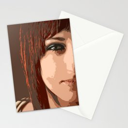 Woman view Stationery Cards