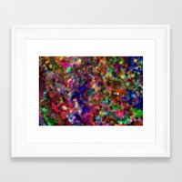 confetti Framed Art Prints featuring confetti by ThysWyldeLyfe