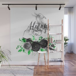 Always Green and Black Wall Mural