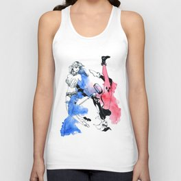 Harley Quinn New & Old Unisex Tank Top