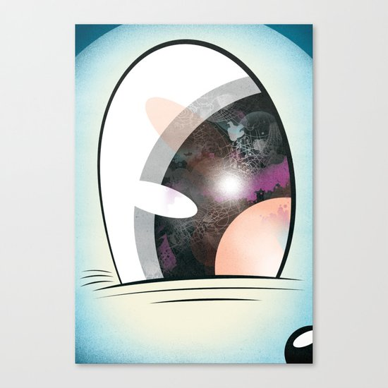 Cartoon Eye Canvas Print