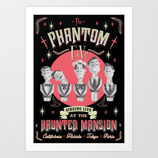 The Phantom five Art Print