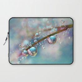 Rainbow Blue Smokey Drops Laptop Sleeve