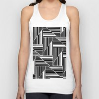 striped Tank Tops featuring STRIPED PATCHWORK by Louisa Hereford