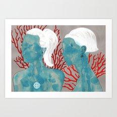 mercan & sedef Art Print