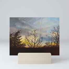 Sunset at the Park Mini Art Print