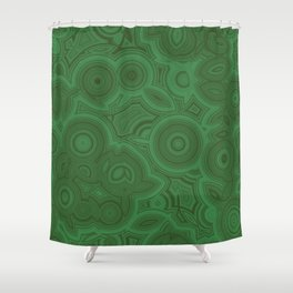 Green Agate Shower Curtain