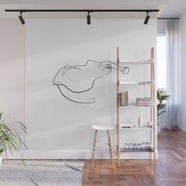 Hippopotamus Wall Mural