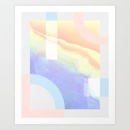 Shore Synth #1 Art Print