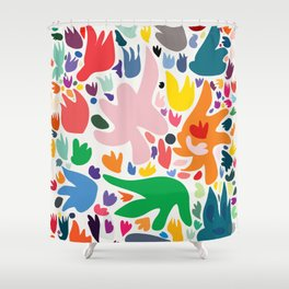 Colorful Joyful Pattern Abstract Shower Curtain
