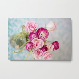 Bunches of Pink II Metal Print