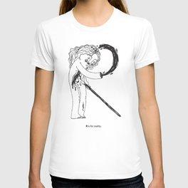 R / disable alphabet T-shirt