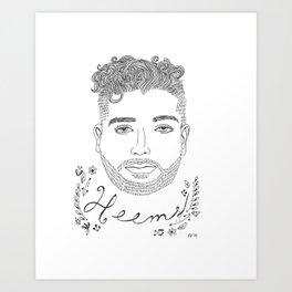 Heems Art Print