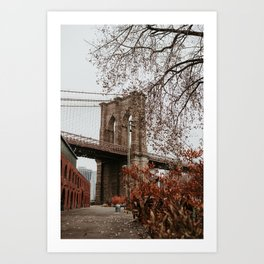 Brooklyn Bridge in the Fall | Colourful Travel Photography | New York City, America (USA) Art Print