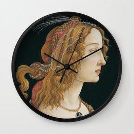 Sandro Botticelli's old Renaissance portrait Wall Clock