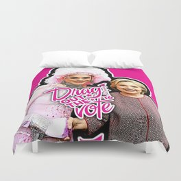 Arial & Hillary: Drag Out the Vote Duvet Cover