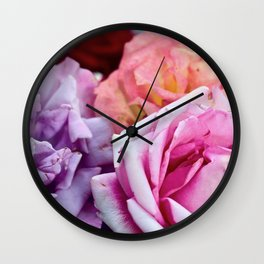 The Happiness of Roses Wall Clock