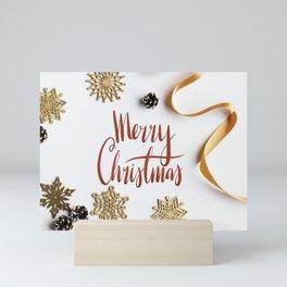Creative Crafty Modern Christmas Holiday Greeting Mini Art Print