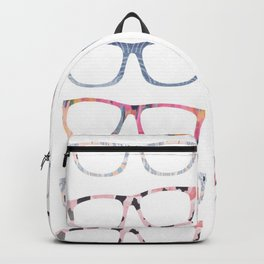 Bespectacled // Watercolor Glasses Print Backpack