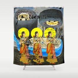 1, 2, 3 IV Shower Curtain
