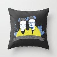 cook Throw Pillows featuring Let's cook by Paula García