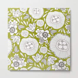 graphically floral pattern Metal Print