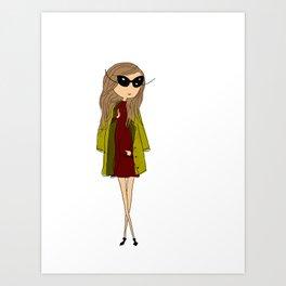 Fashion girl Art Print