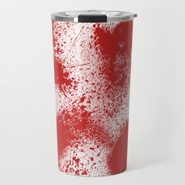 Bloody Blood Spatter Halloween Travel Mug