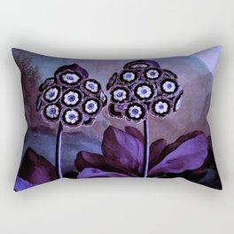 Deep Purple Blue Auriculas : Temple of Flora Rectangular Pillow