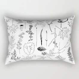 Botanical Drawings by young school kids artists, profits are donated to The Ivy Montessori School Rectangular Pillow